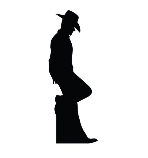 small resolution of 1199x1280 su 2317 cowboy silhouette cardboard cutout standup
