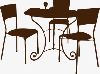 table silhouette dining vector getdrawings continental