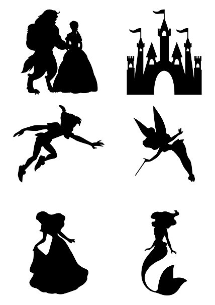 Disney Princess Silhouette Wall Art at GetDrawings.com