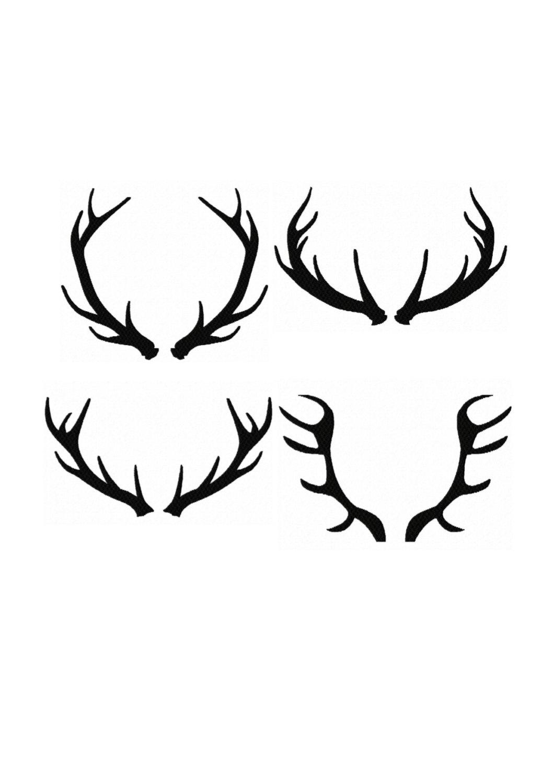 Elk Antler Silhouette At Getdrawings