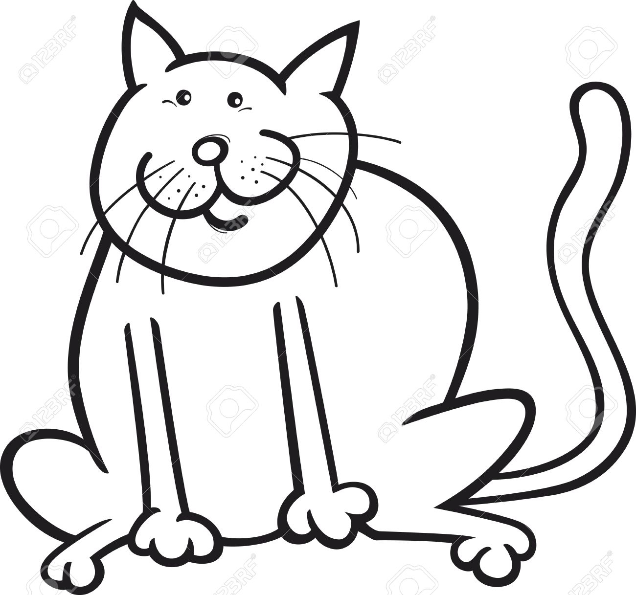 Fat Cat Silhouette At Getdrawings