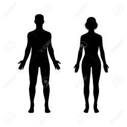 body woman icon human female silhouette outline vector male figure flat clipart app website eve adam person physiology shutterstock getdrawings