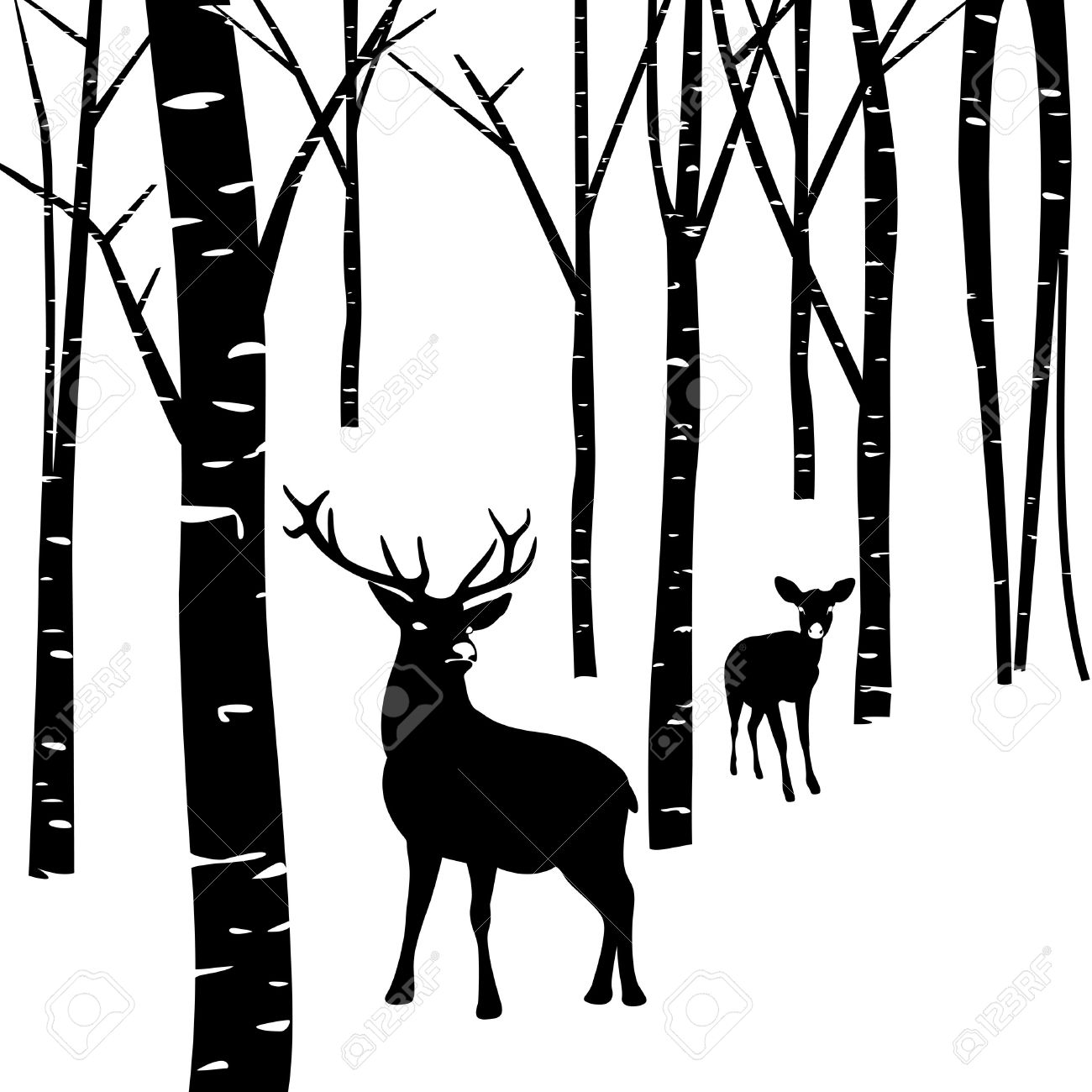 Forest Silhouette Clip Art At Getdrawings