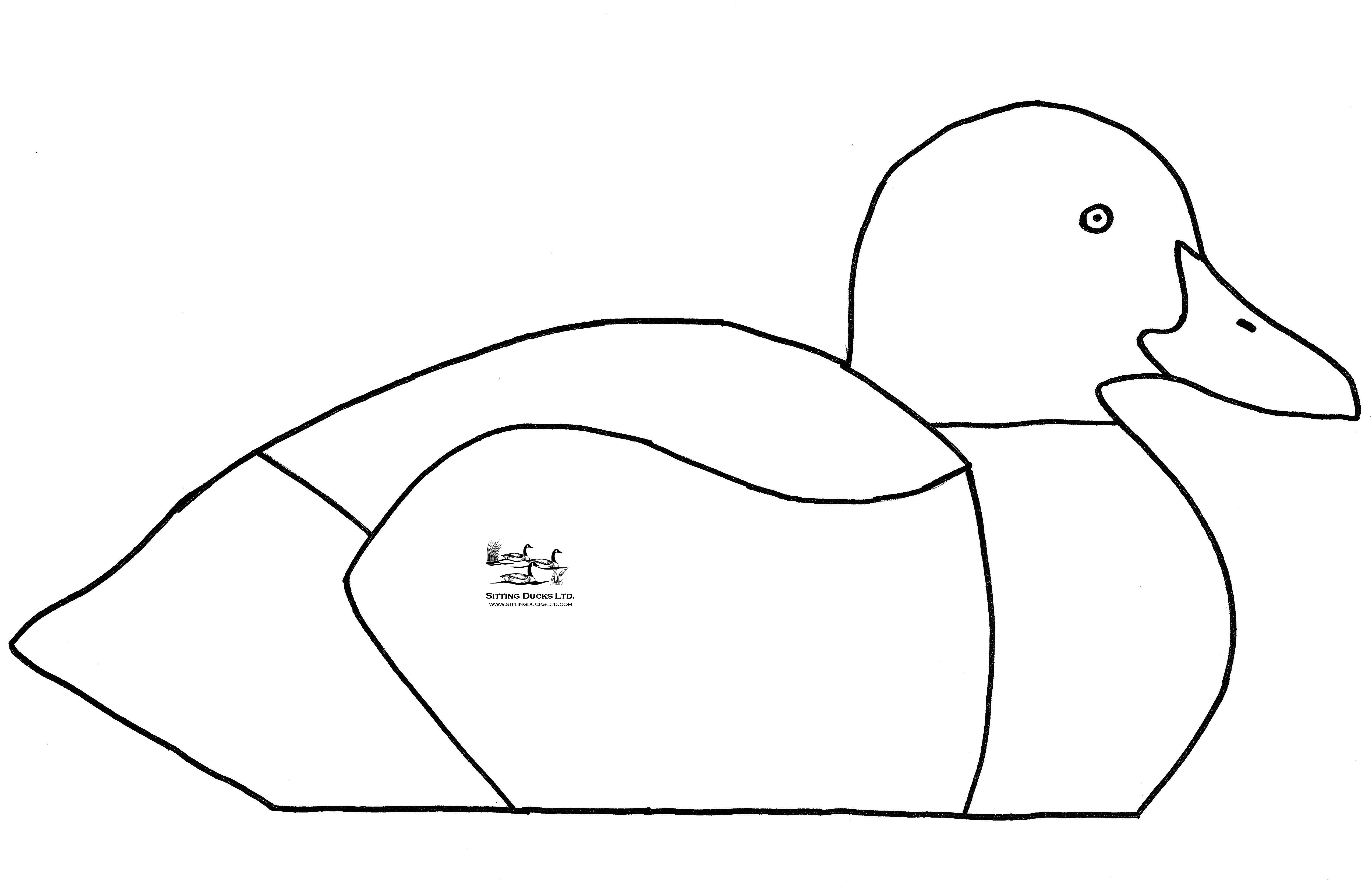 Goose Silhouette Template At Getdrawings