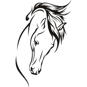 horse head silhouette drawing clipart face clip horsehead step christmas drawings line tree simple coloring vector getdrawings clipartmag clipground cliparts
