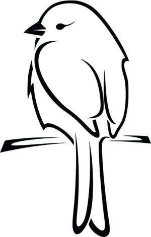 bird draw silhouette outline simple flying getdrawings