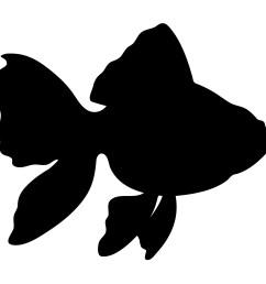 1600x1600 gold fish silhouette wall sticker [ 1600 x 1600 Pixel ]