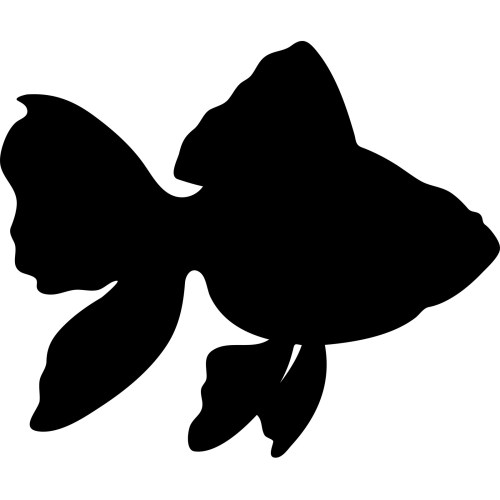 small resolution of 1600x1600 gold fish silhouette wall sticker