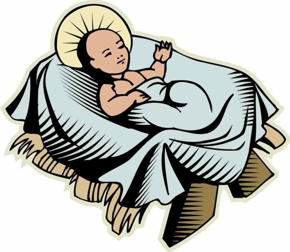 medium resolution of 1184x1029 baby bed s cartoon jesus crib clipart cute baby christ stock