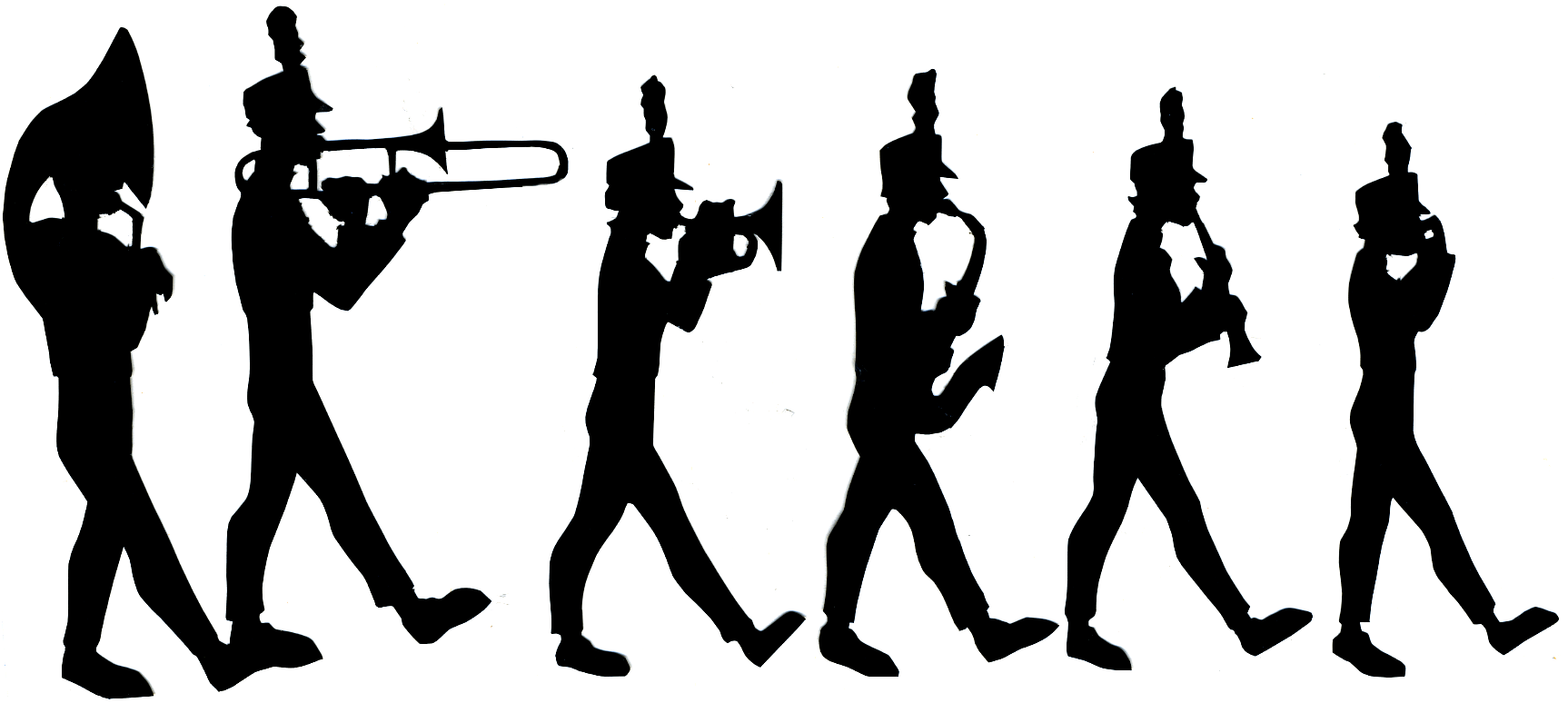 Marching Band Clipart Silhouette At Getdrawings