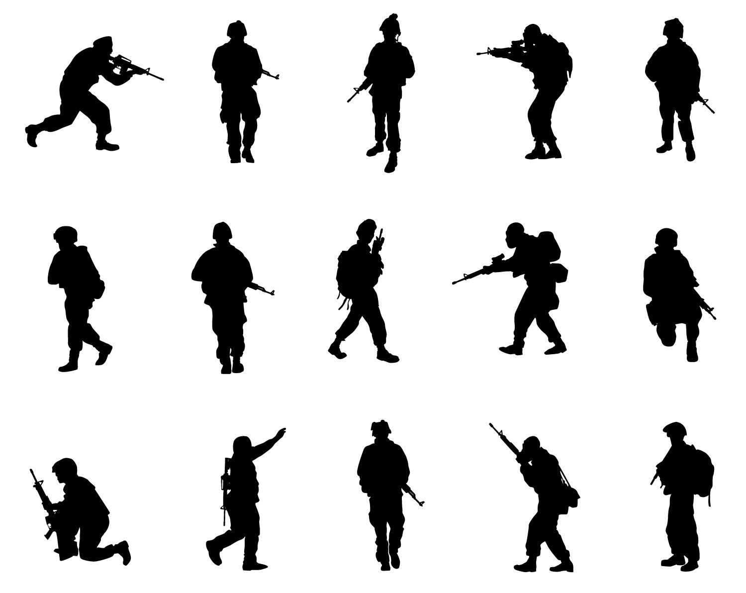 The Best Free Military Silhouette Images Download From