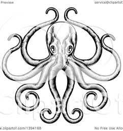 1080x1024 clipart of a black and white retro woodcut octopus with its [ 1080 x 1024 Pixel ]