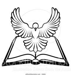1024x1044 vector illustration of a blackd white holy spirit dove above [ 1024 x 1044 Pixel ]