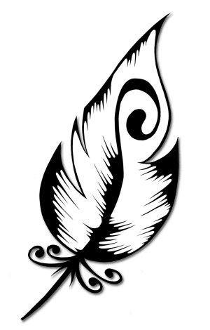 drawing peacock feather clipart clip outline silhouette easy designs filigree line tattoo plume simple feathers tribal deviantart tattoos drawings swirl