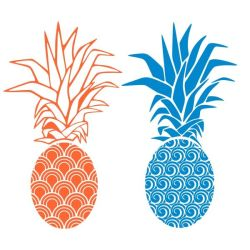 pineapple silhouette svg clipart cuttable getdrawings designs