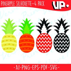 pineapple silhouette svg pdf getdrawings clipart