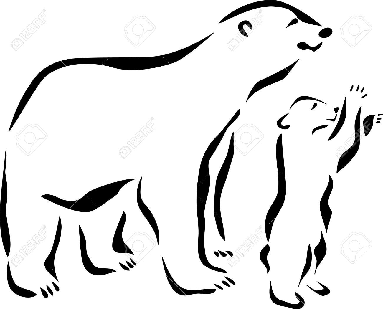 Polar Bear Silhouette Clip Art At Getdrawings