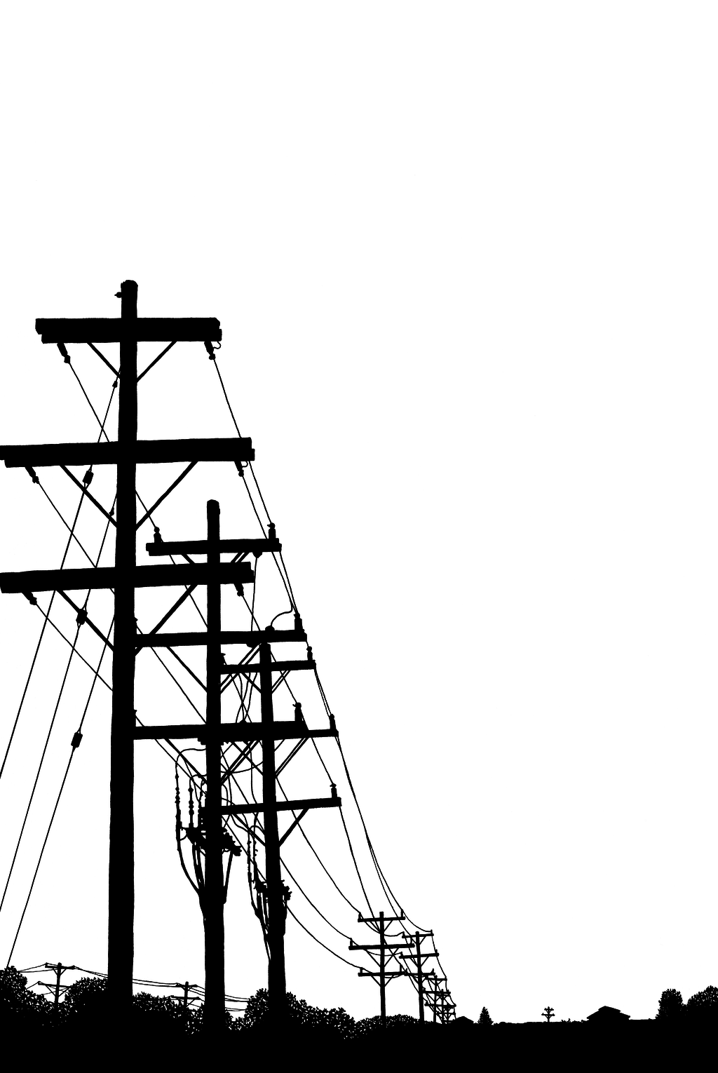 Power Lines Silhouette At Getdrawings