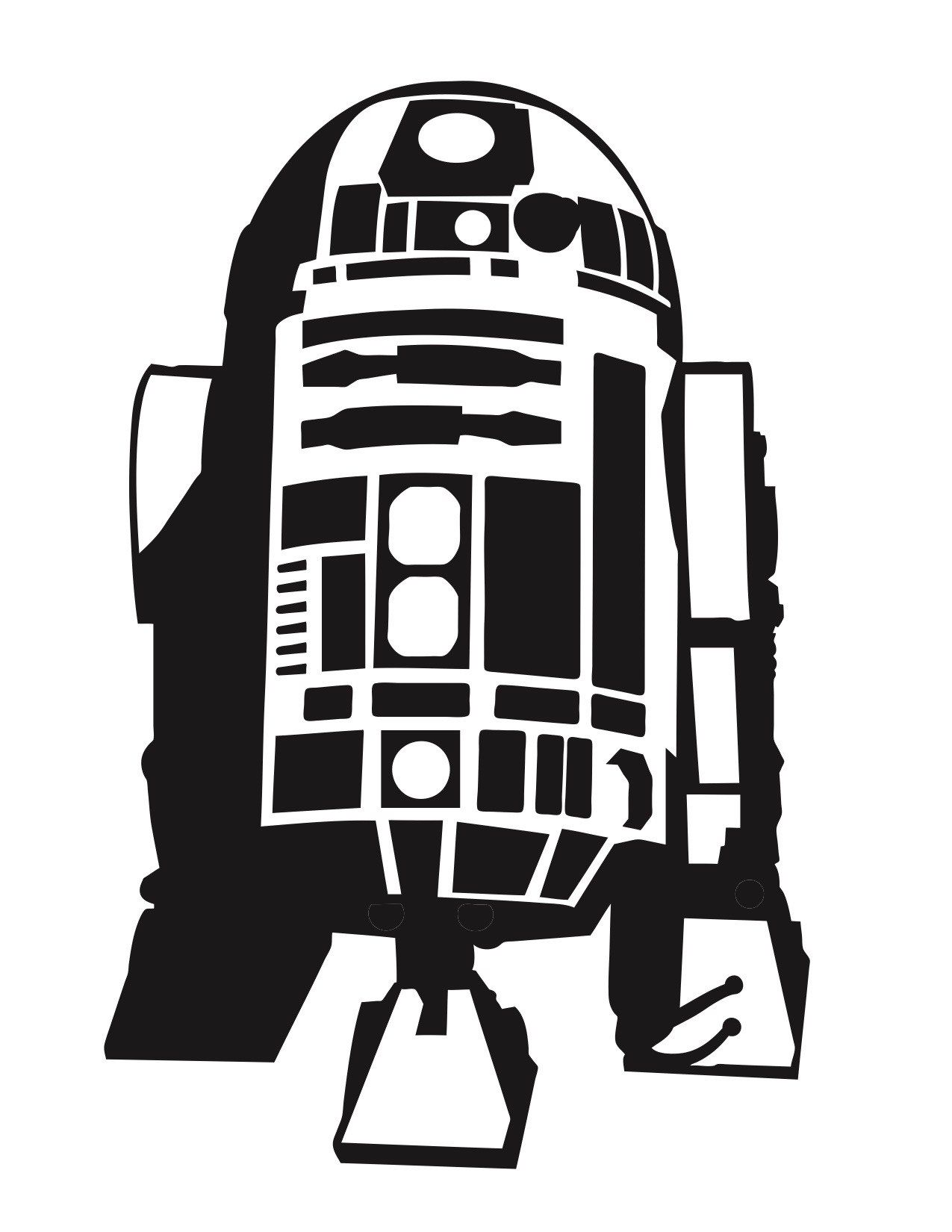 R2d2 Silhouette Vector At Getdrawings