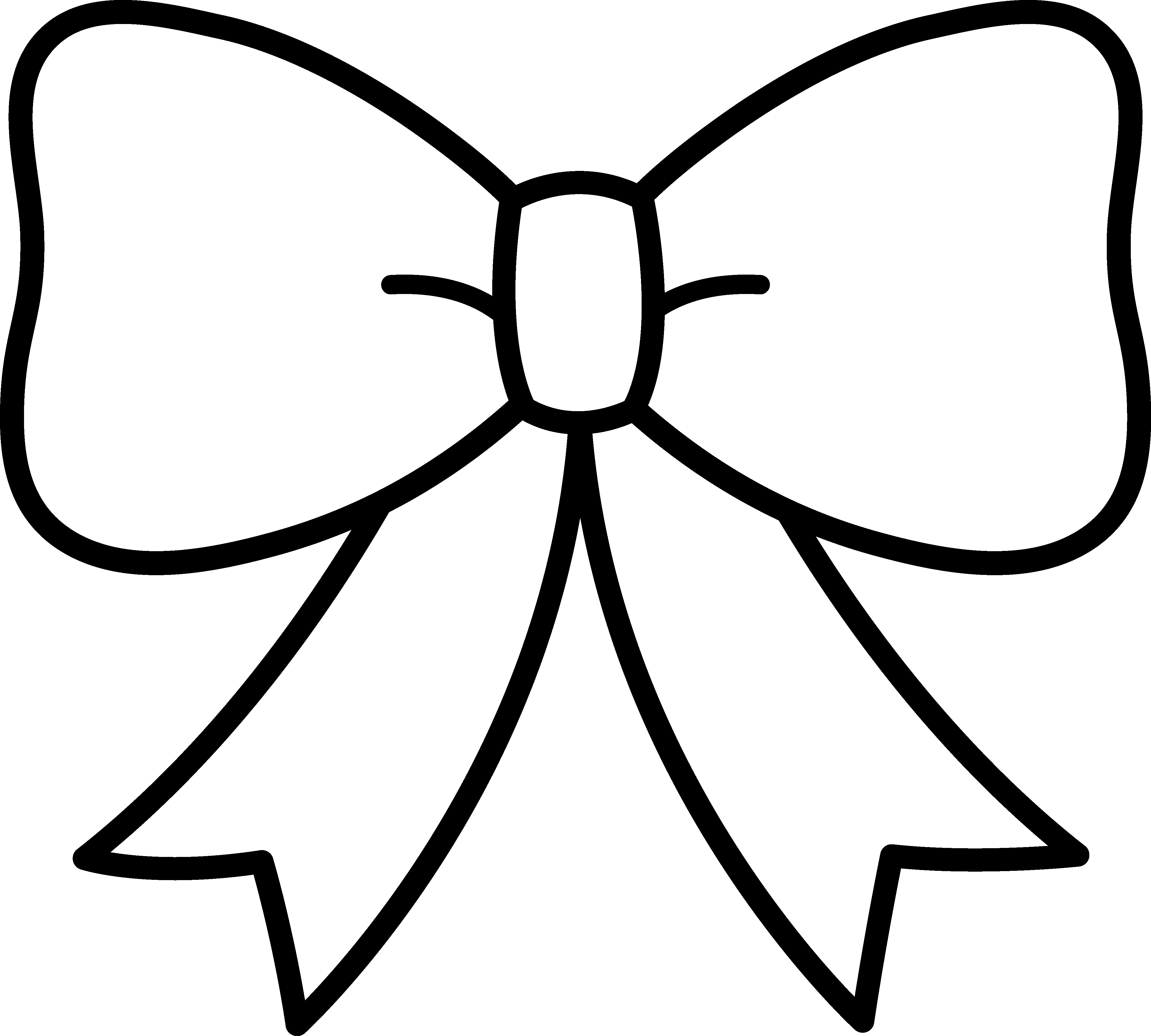 Silhouette Bow At Getdrawings