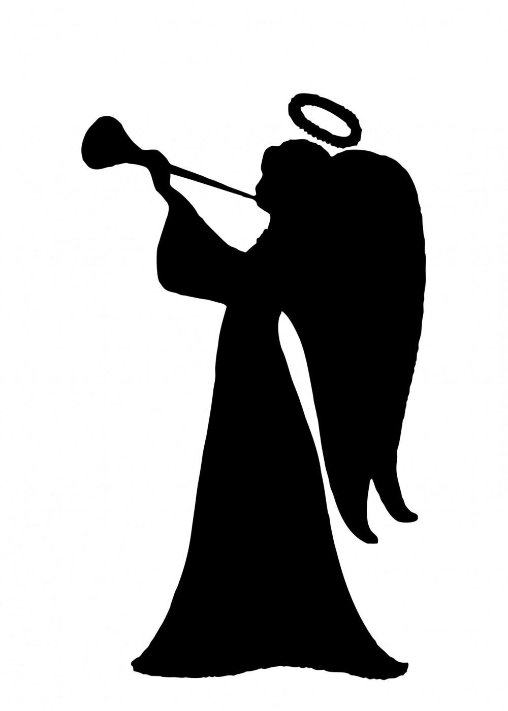 medium resolution of 1371x1920 angel silhouette clipart free stock photo