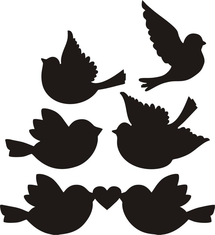 Download Silhouette Love Birds at GetDrawings   Free download