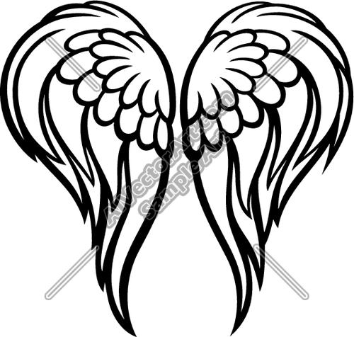 silhouette of angel wings