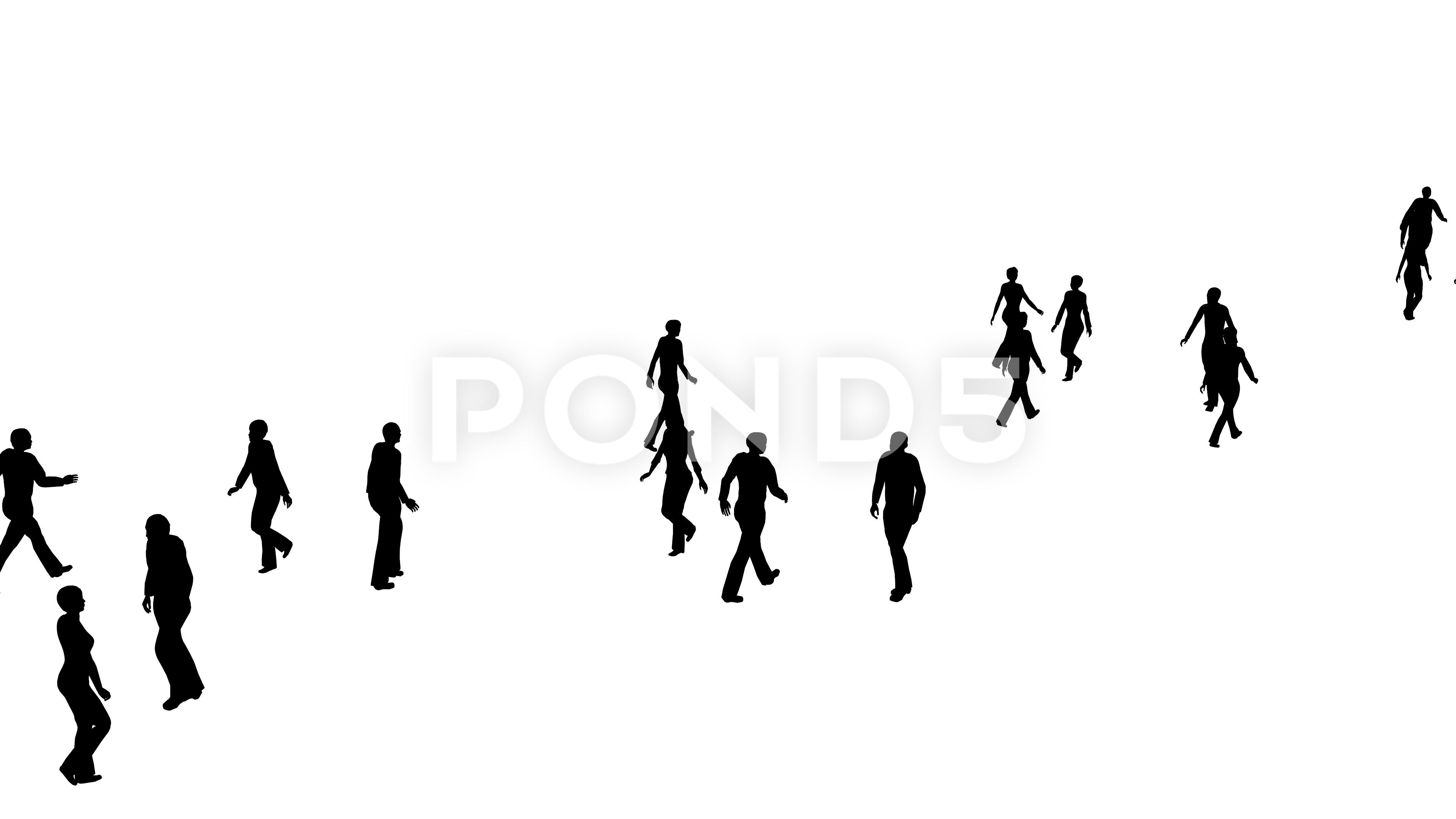 Silhouette Of Crowd At Getdrawings