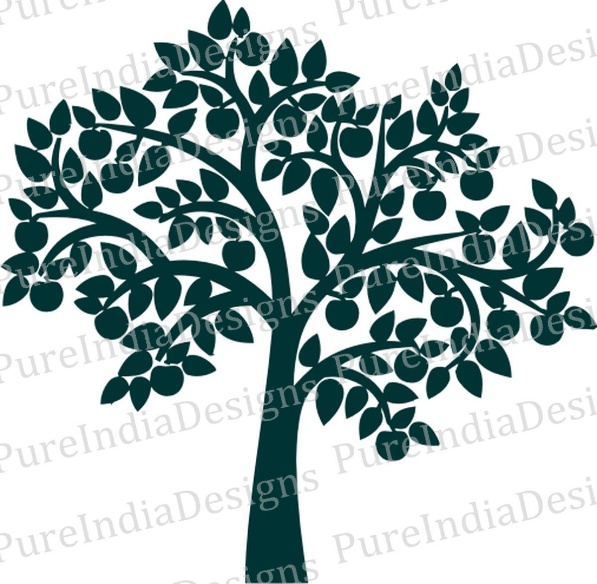 Silhouette Tree Wall Decal at GetDrawings.com