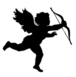 angel silhouette silhouettes simple clipart getdrawings cupid bow