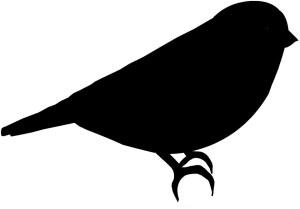silhouette bird simple getdrawings