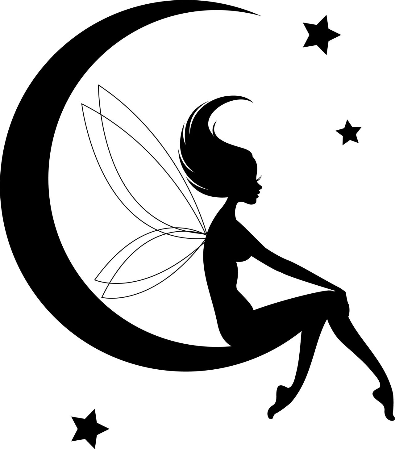 Simple Fairy Silhouette At Getdrawings