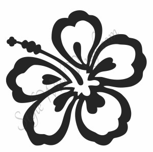 flower drawing hibiscus simple hawaiian silhouette clipart outline flowers clip clipartmag getdrawings step library graphics