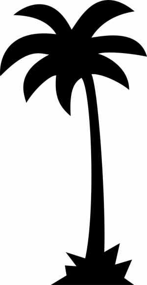 palm tree silhouette simple vector clipart drawing interior clip line coconut getdrawings icon clipartmag
