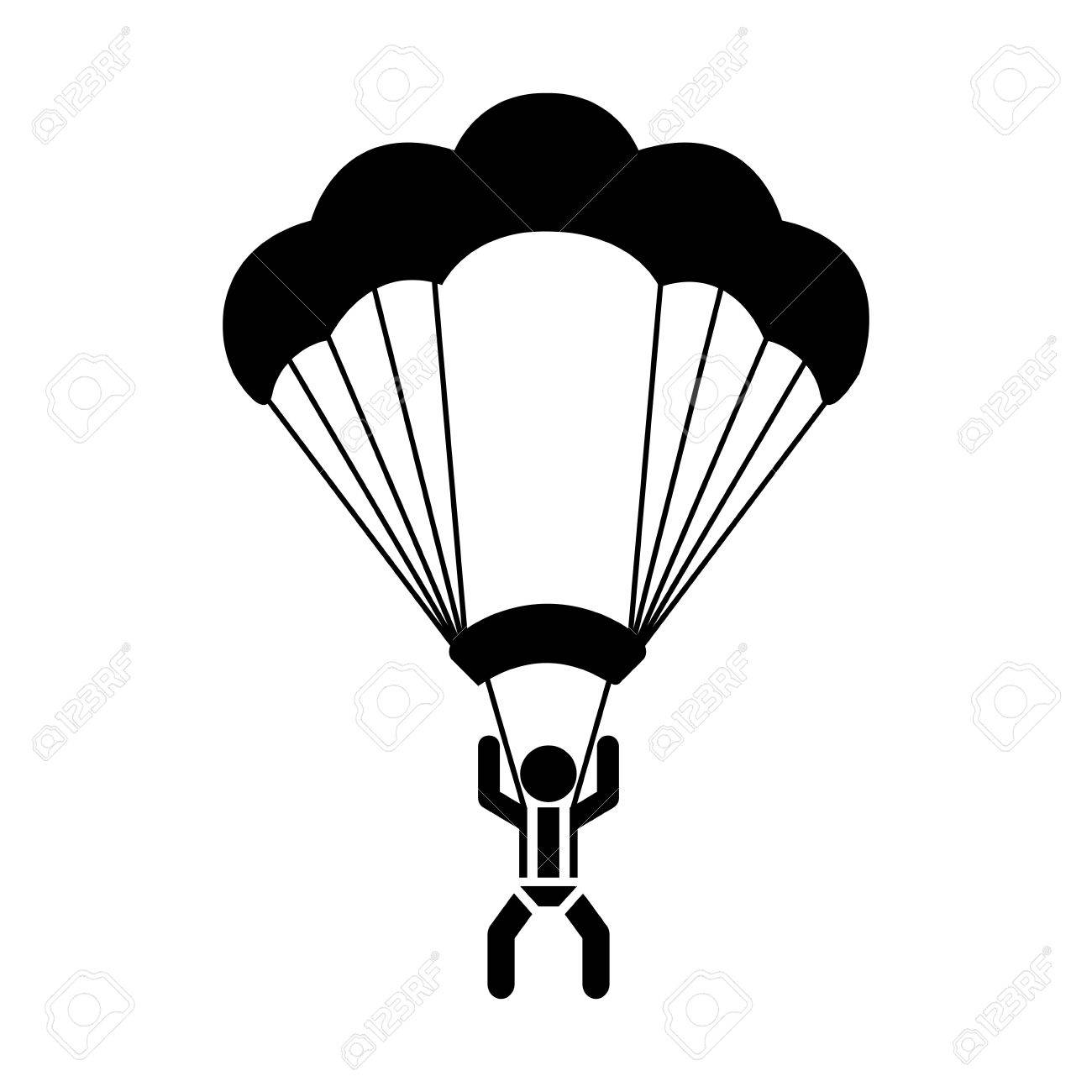 Skydiver Silhouette At Getdrawings