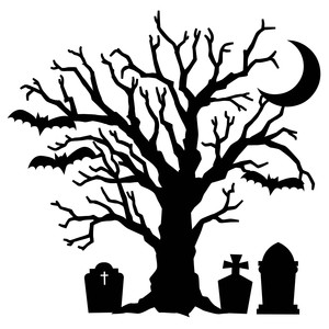 y halloween tree silhouette at getdrawings com free for