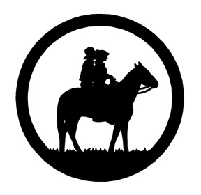 western cowboy silhouette at