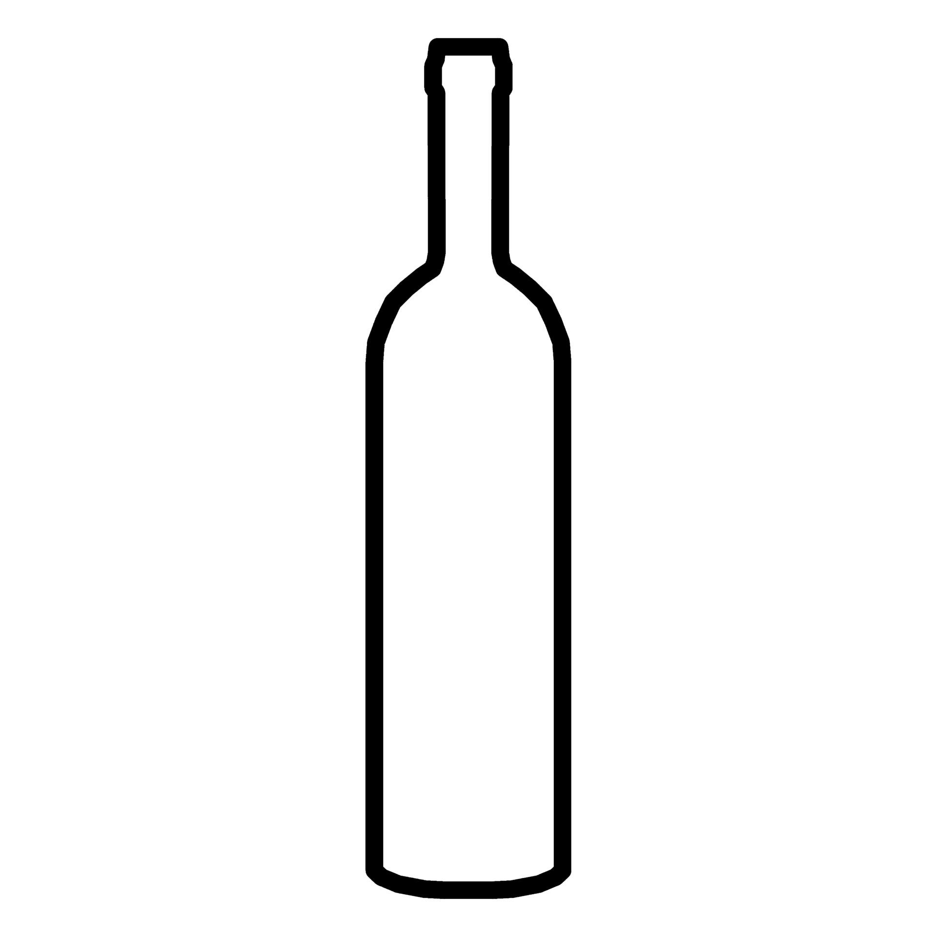 Wine Bottle Silhouette Vector At Getdrawings