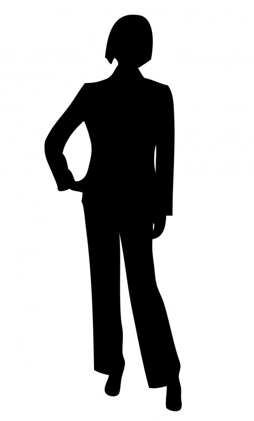 small resolution of 1160x1920 working woman silhouette clip art