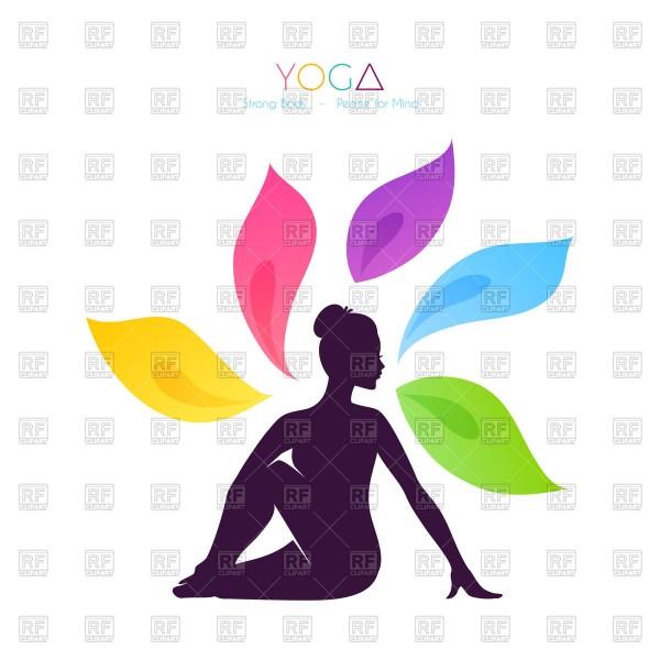 Yoga Silhouette Vector Free
