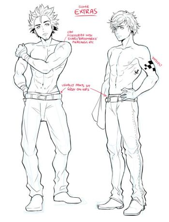 Male Anime Body Reference