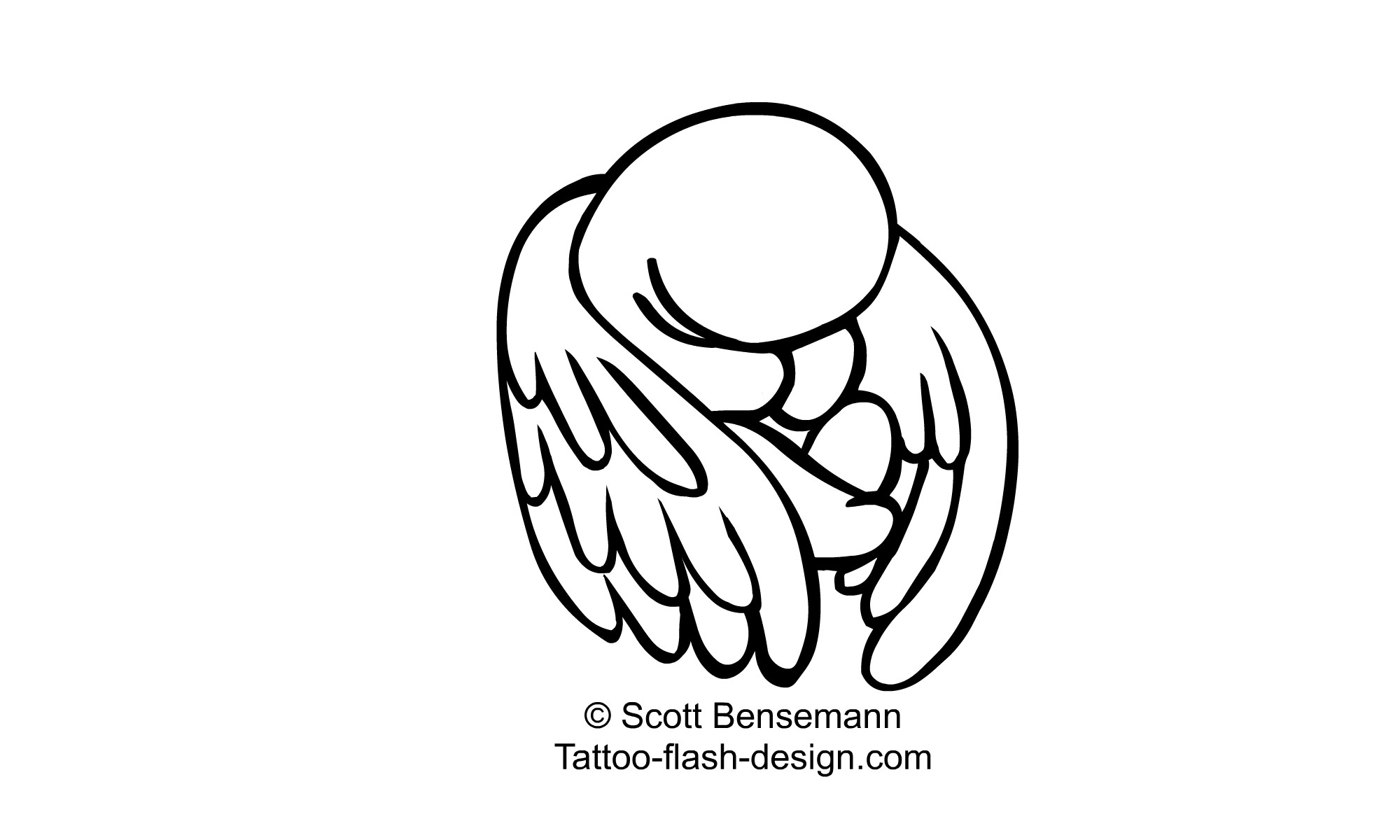 Baby With Angel Wings Drawing At Getdrawings
