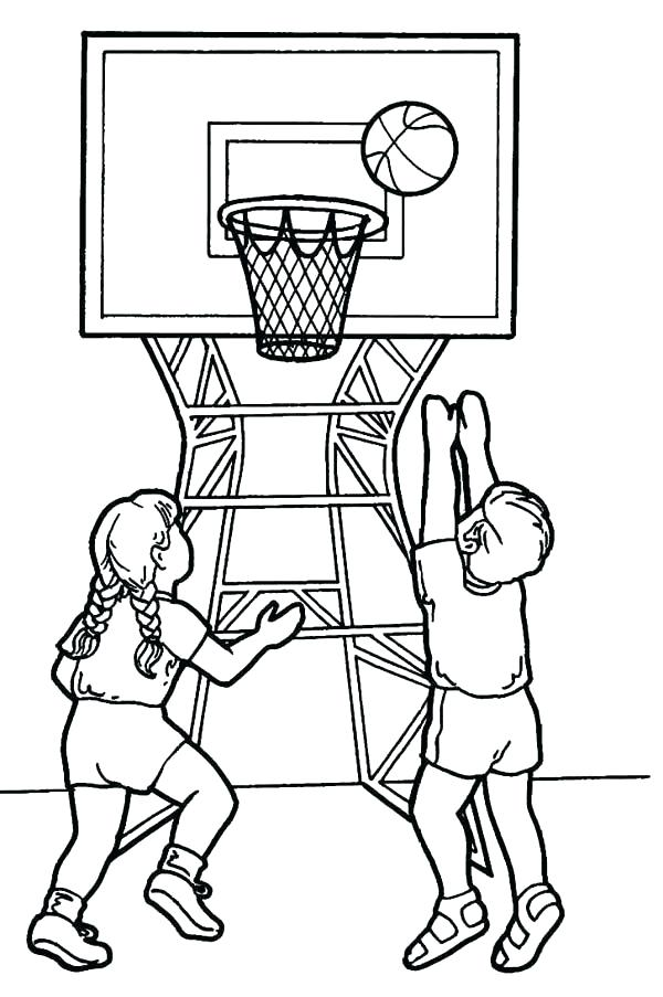 Basketball Court Drawing And Label at GetDrawings.com