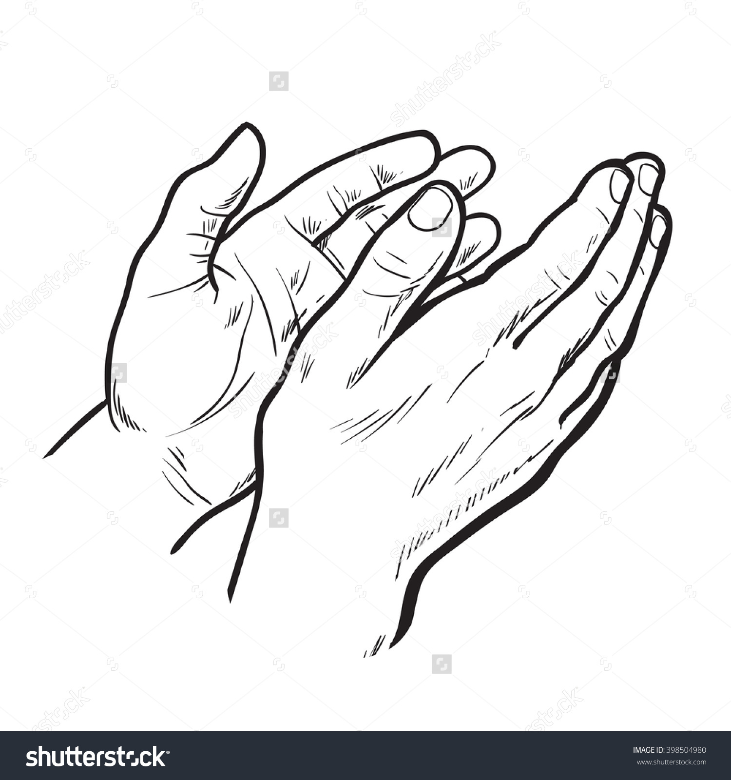 hight resolution of 1500x1600 hands clap vector hand drawn circuit stock symbol of applause