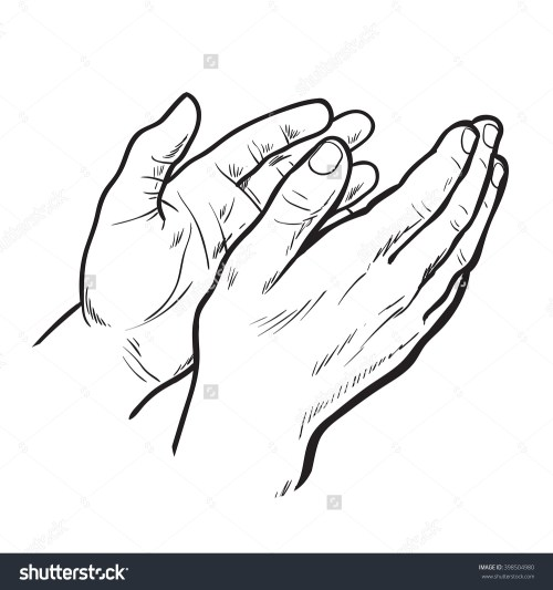 small resolution of 1500x1600 hands clap vector hand drawn circuit stock symbol of applause