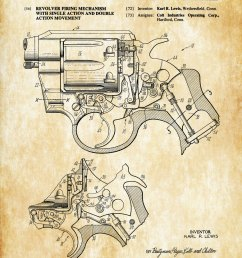 1021x1500 colt revolver firing mechanism patent patent print wall decor [ 1021 x 1500 Pixel ]