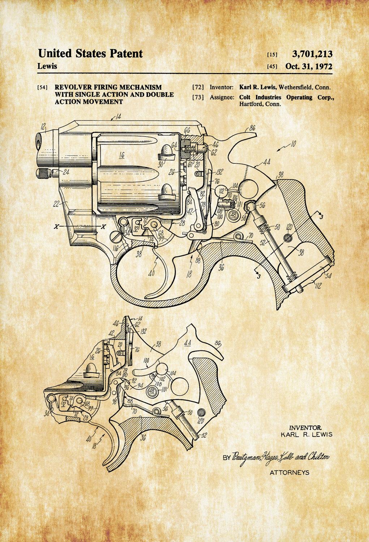 hight resolution of 1021x1500 colt revolver firing mechanism patent patent print wall decor