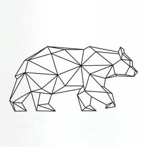 geometric bear tattoo animal geomtric shapes drawing creative designs tattoos drawings simple bears lines angular ours minimalist meaning animals easy
