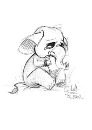 sad easy drawing depression drawings depressing really getdrawings elephant fail