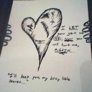 sad easy drawing depression secret dirty drawings depressing shy